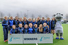 16 March 2018 at the National Hockey Centre, Glasgow Green. Scottish Schools Cup Finals night.<br /> S3 Girls Plate winners –  Strathallan School