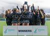 16 March 2018 at the National Hockey Centre, Glasgow Green. Scottish Schools Cup Finals night.<br /> Aspire Girls Cup winners – Trinity Academy