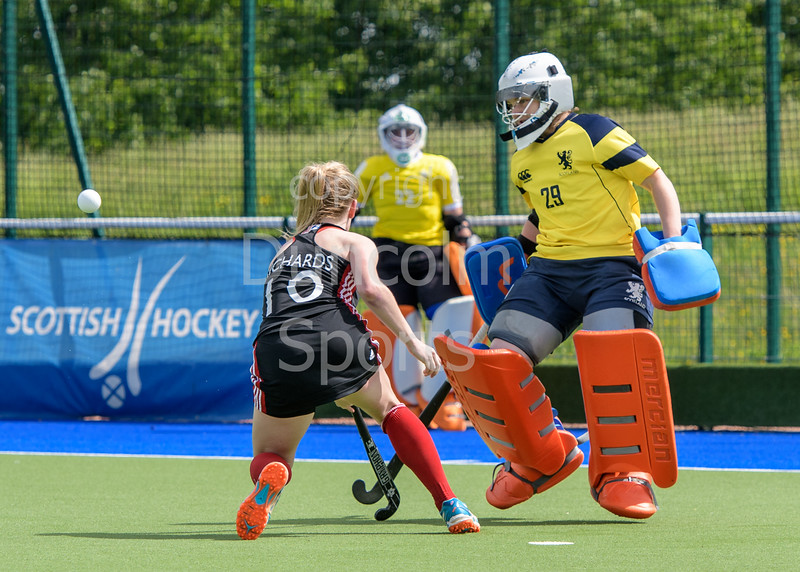 28 May 2017 at the National Hockey Centre, Glasgow Green. Scotland v Wales