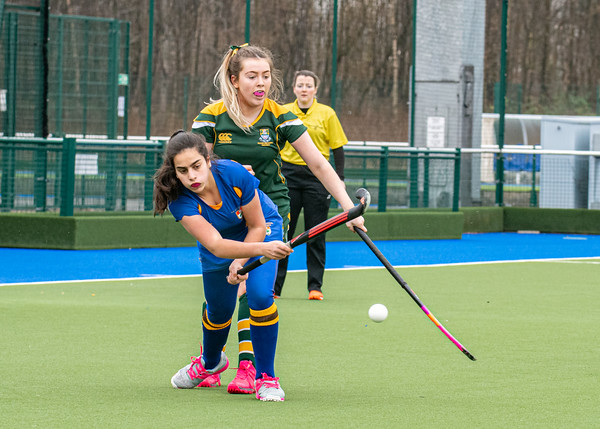 6 March 2020 at the National Hockey Centre, Glasgow Green. Scottish Hockey Junior Schools' Cup Finals .<br />  Junior Girls' Plate - Selkirk High School v High School of Glasgow
