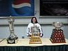 Me with the Prince of Wales, Conn Smythe, and Art Ross trophies