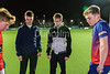 16 March 2018 at the National Hockey Centre, Glasgow Green. Scottish Schools Cup Finals night.<br /> Open Boys Cup final – Stewart Melville College v Hutchesons Grammar School
