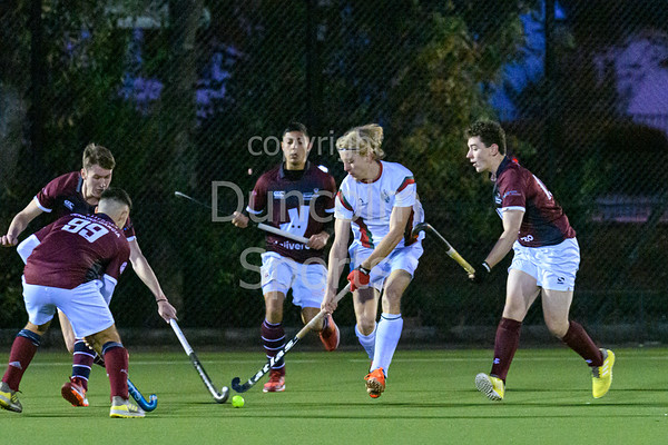 30 October 2019 at Stepps. BUCS Men's Hockey Premiership match - Strathclyde University v University of Leeds