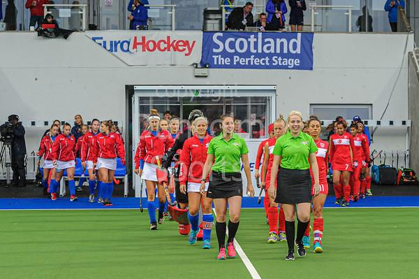 9 August 2019 at the National Hockey Centre, Glasgow Green. Women's EuroHockey Championship II  Pool C match: Turkey v Czech Republic