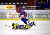 Vålerenga's Cato Cocozza (blue) and Storhamar's Toivu at Jordal Amfi, 2007.