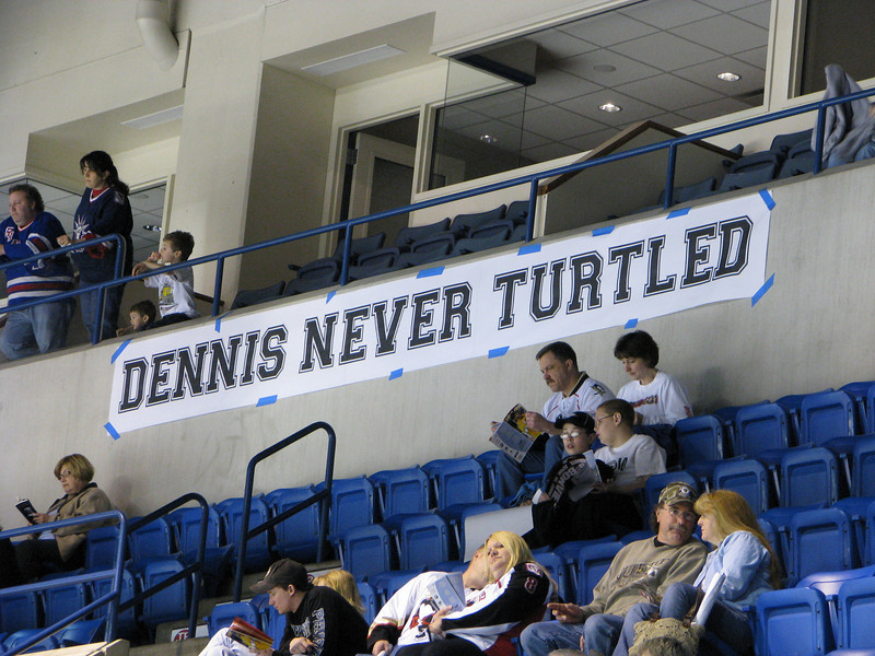 Sign at arena
