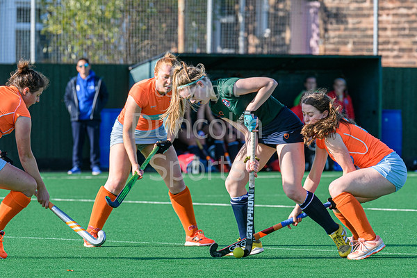 12 October 2019 at Titwood, Glasgow. Scottish Hockey Premiership match - Clydesdale Western v Edinburgh University