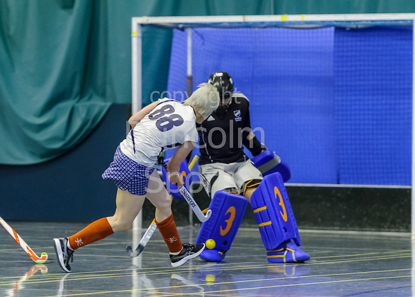 3 December 2017 at Bells Sports Centre, Perth.<br /> Scottish National Indoor League Division 1 - Grove Menzieshill v Edinburgh University