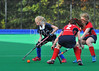 4 October 2014. Peffermill, Edinburgh.  Girls Youth Inter-District Hockey. Under 16 North v Midland