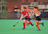 4 October 2014. Peffermill, Edinburgh.  Girls Youth Inter-District Hockey. Under 16 North v Highland.<br /> <br /> Please note that this photo was taken in poor lighting conditions an is not suitable for printing to larger sizes.