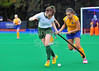 4 October 2014. Peffermill, Edinburgh.  Girls Youth Inter-District Hockey. Under 16 South v West