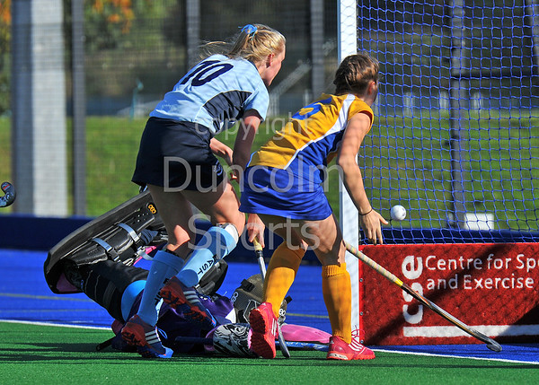 4 October 2014. Peffermill, Edinburgh.  Girls Youth Inter-District Hockey. Under 18 West v East