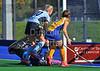 4 October 2014. Peffermill, Edinburgh.  Girls Youth Inter-District Hockey. Under 18 West v East