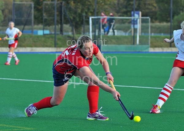 4 October 2014. Peffermill, Edinburgh.  Girls Youth Inter-District Hockey. Under 18 South West v North