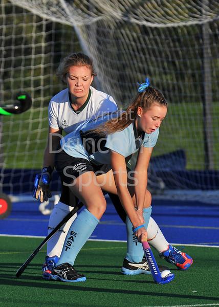 4 October 2014. Peffermill, Edinburgh.  Girls Youth Inter-District Hockey. Under 18 South v East