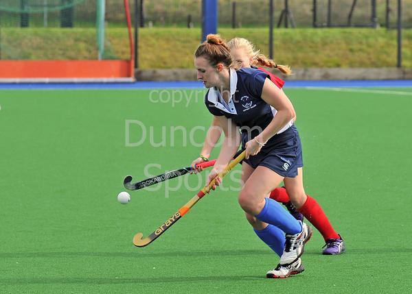 4 October 2014. Peffermill, Edinburgh.  Girls Youth Inter-District Hockey. Under 18 North v Midland