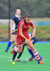 4 October 2014. Peffermill, Edinburgh.  Girls Youth Inter-District Hockey. Under 18 East v South West<br /> <br /> Please note that this photo was taken in very poor lighting conditions an is not suitable for printing to larger sizes.