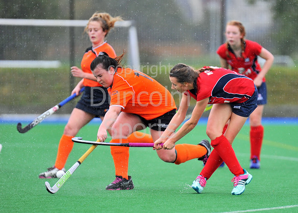 4 October 2014. Peffermill, Edinburgh.  Girls Youth Inter-District Hockey. Under 18 North v Highland<br /> <br /> <br /> <br /> Please note that this photo was taken in very poor lighting conditions an is not suitable for printing to larger sizes.