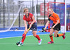 4 October 2014. Peffermill, Edinburgh.  Girls Youth Inter-District Hockey. Under 18 North v Highland<br /> <br /> Please note that this photo was taken in very poor lighting conditions an is not suitable for printing to larger sizes.