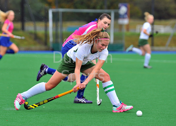 4 October 2014. Peffermill, Edinburgh.  Girls Youth Inter-District Hockey. Under 18 South v West