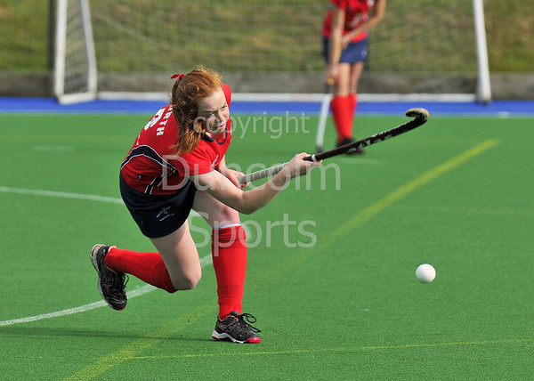 4 October 2014. Peffermill, Edinburgh.  Girls Youth Inter-District Hockey. Under 18 North v Midland