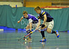 18 January 2015. Bells Sports Centre, Perth. Under 18 Indoor Scottish Hockey Cup Finals. Inverleith v Clydesdale