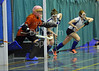 17 January 2015. Bells Sports Centre, Perth. Under 18 Indoor Hockey Scottish Cup Finals. George Heriot's v Strathallan