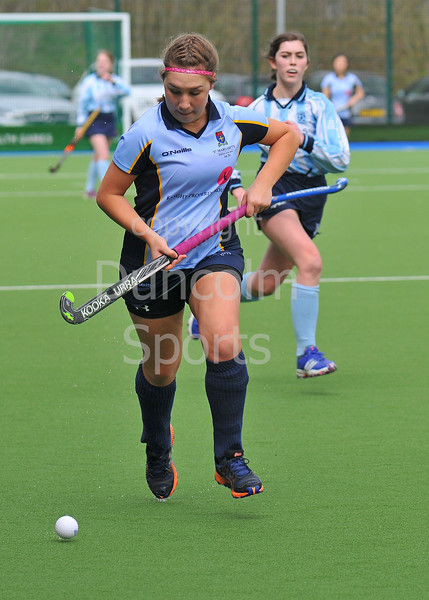 22 April 2016 at the National Hockey Centre, Glasgow Green. Scottish Schools Finals:<br /> Girls Aspire Cup, St. Margaret's v Douglas Academy