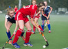 1 October 2016 at the National Hockey Centre, Glasgow Green.<br /> Scottish Hockey Youth Interdistrict Girls tournament - under 16s - Midland v South West