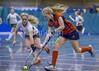 11 February 2017 at Bells Sports Centre, Perth.<br /> Scottish Under 18 Girls Indoor Hockey Interdistrict Tournament.<br /> South v North