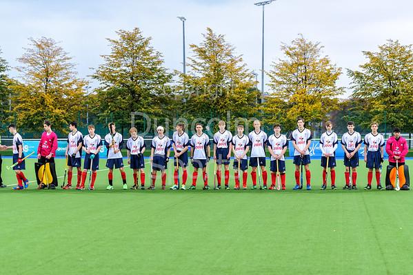 24 September 2017 at the National Hockey Centre, Glasgow Green. <br /> Boys Interdistrict Tournament 2017 - under 18s - West v North
