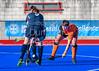 23 September 2018 at Peffermill, Edinburgh.  Scottish Hockey Youth Interdistricts, under 18 boys. Highland v East.