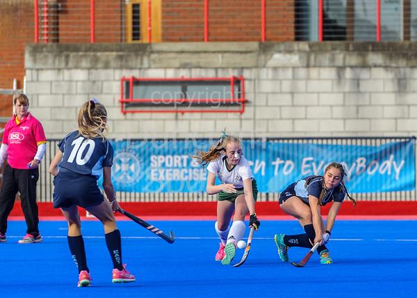 30 September 2018 at Peffermill, Edinburgh. Scottish Hockey Girls Interdistricts Under 18s -   East v South