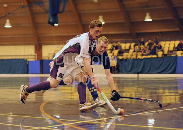 Inverleith v Strathallan. Under 18 Indoor Cup Hockey at Bells Sports Centre, Perth on 19 January 2014