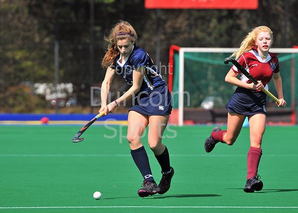 Scottish Hockey Under 16 League Play-off finals at Peffermill on 27 April 2013.  CALA Edinburgh v Watsonians