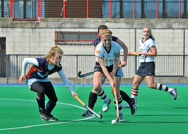 Scottish Hockey Under 16 League Play-off finals at Peffermill on 27 April 2013.  CALA Edinburgh v Clydesdale