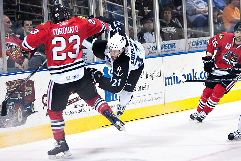 AHL (American Hockey League) in Photos- Zack Torquato Rockford Icehogs