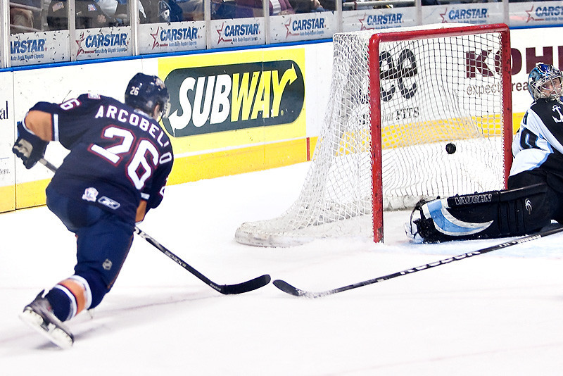 AHL (American Hockey League) in Photos- Mark Arcobello Oklahoma City Barons