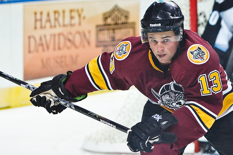 Chicago Wolves forward Michael Davies