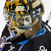 Goaltender Atte Engren  of the Milwaukee Admirals in warmups