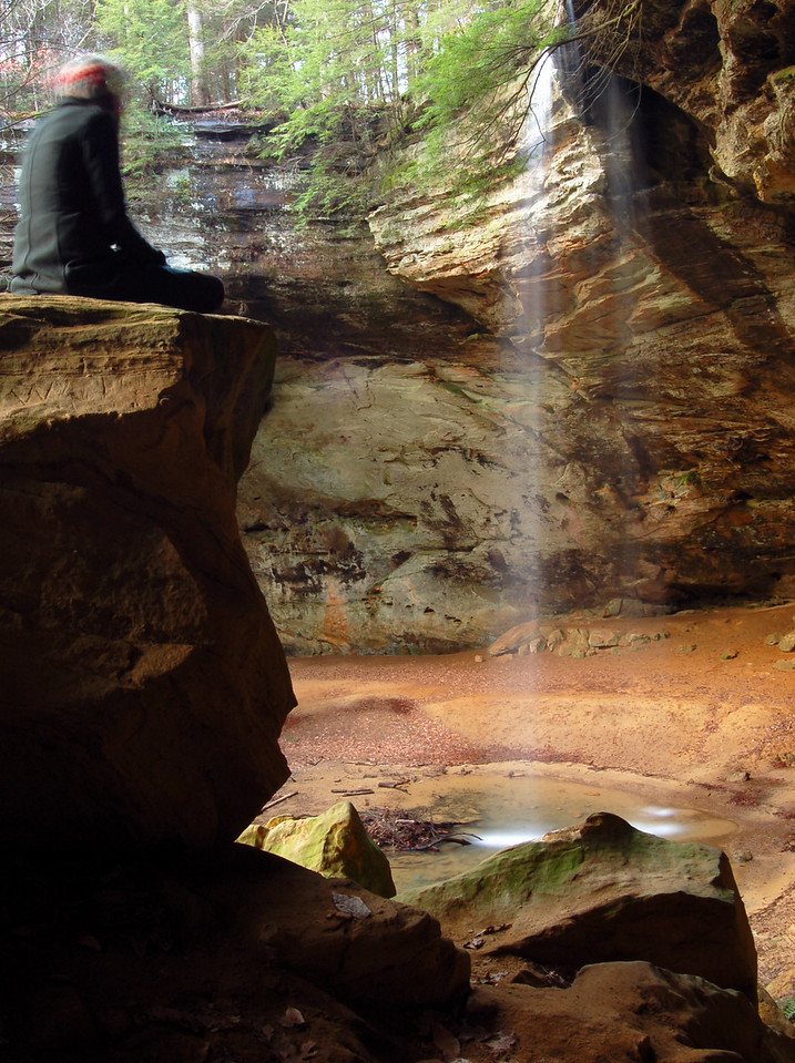 Waterfall at Ash Cave, Hocking Hills State Park.