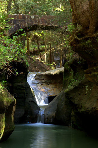 Photo By Bob Bodnar.................Lower Falls at Old Man's Cave, Hocking Hills State Park