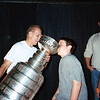 Ray drinking champagne from the Stanley Cup