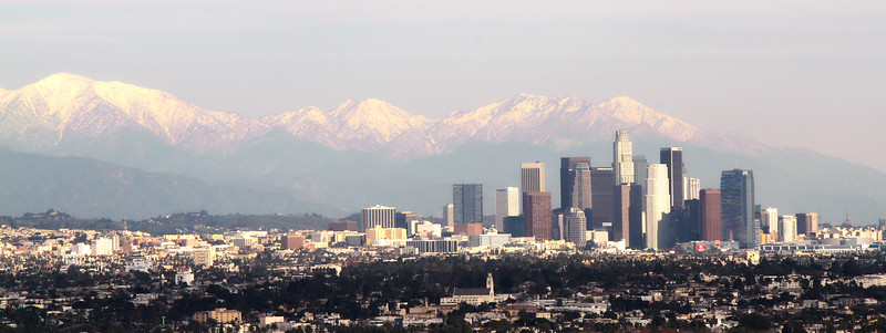 Downtown LA viewed from Culver City