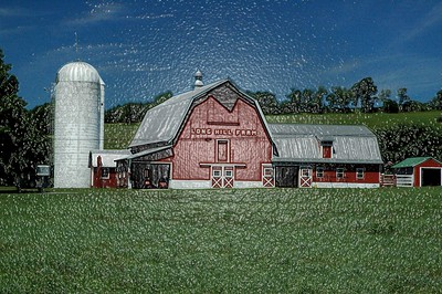 Long Hill Barn in Relief