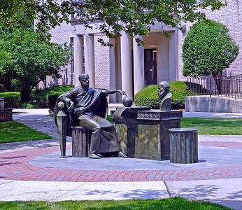 Plato Having a Dialogue with Socrates on the Campus of Hofstra University