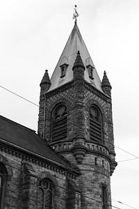 St. Luke's Spire Near Dusk