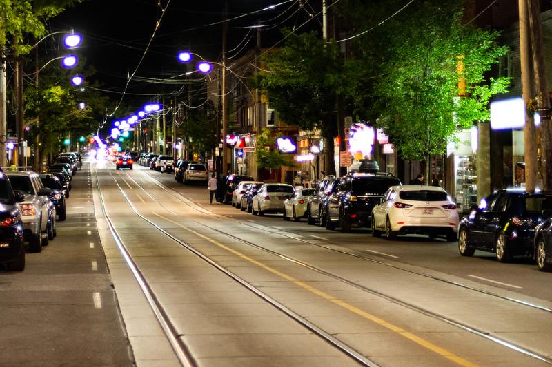 Evening on Queen Street East