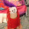 A Kachina doll from Charms class.