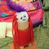A kachina doll made in Ophelia's Charms class.